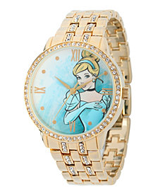 Disney Princess Cinderella Gold Alloy Watch With Glitz