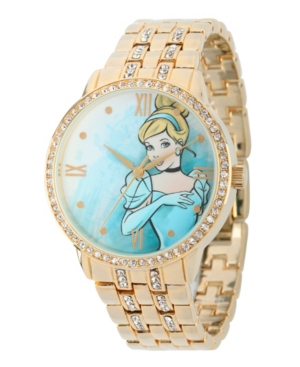 Disney Princess Cinderella Gold Alloy Watch With Glitz