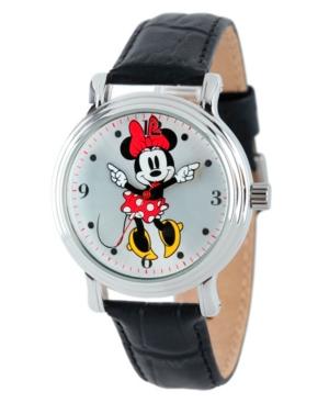 Disney Minnie Mouse Women's Shinny Silver Vintage Alloy Watch