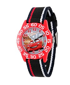 Disney Cars Boys' Red Plastic Time Teacher Watch