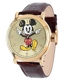 Disney Mickey Mouse Men's  Shinny Gold Vintage Alloy Watch