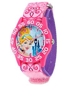 Disney Cinderella Girls' Pink Plastic Time Teacher Watch
