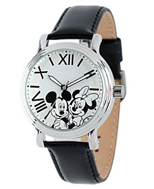 Disney Mickey Mouse & Minnie Mouse  Women's Shiny Silver Vintage Alloy Watch