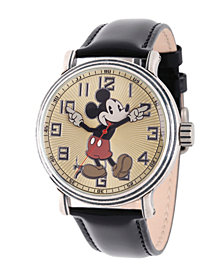 Disney Mickey Mouse Men's Antique Silver Vintage Alloy Watch