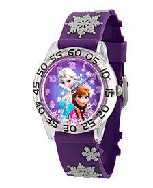 Disney Frozen Elsa and Anna Girls' Plastic Time Teacher Watch