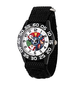 Marvel's Avenger Assemble: Marvel Group Boys' Black Plastic Time Teacher Watch