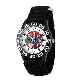 Marvel's Avenger Assemble: Marvel Group Boys' Black Plastic Time Teacher Watch