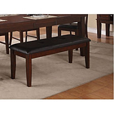 Solid Wood Bench With Sturdy Base