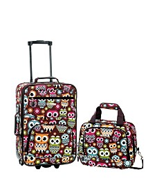 Rockland 2PCE Owl Softside Luggage Set