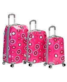 Rockland Pink Pearl 3PCE Hardside Luggage Set