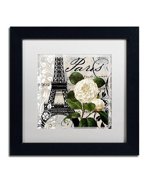 "Trademark Global Color Bakery 'Paris Blanc I' Matted Framed Art, 11"" x 11"""