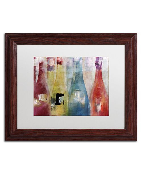 "Trademark Global Color Bakery 'Bouteilles Ii' Matted Framed Art, 11"" x 14"""