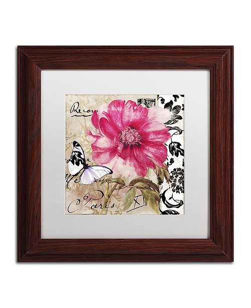 "Trademark Global Color Bakery 'Le Pink' Matted Framed Art, 11"" x 11"""
