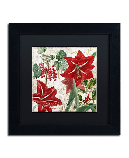 "Trademark Global Color Bakery 'Christmas In Paris Ii' Matted Framed Art, 11"" x 11"""