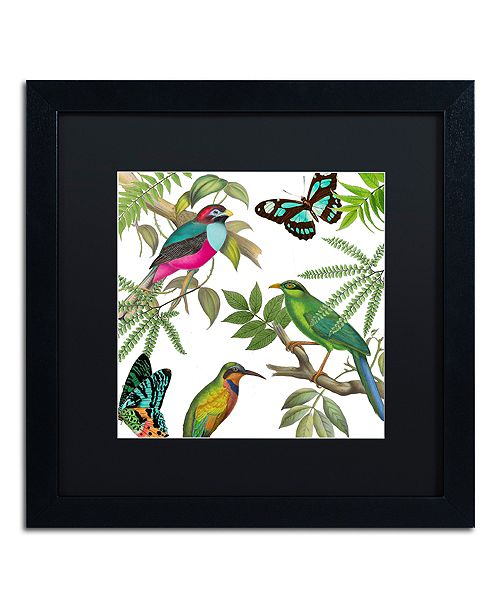 "Trademark Global Color Bakery 'Walking On Air Ii' Matted Framed Art, 16"" x 16"""
