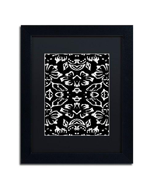 """Trademark Global Color Bakery 'Black & White Pattern' Matted Framed Art, 11"""" x 14"""""""