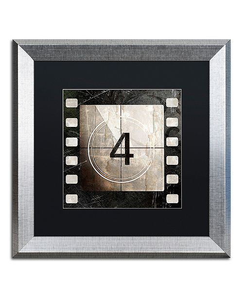 "Trademark Global Color Bakery 'Vintage Countdown Iv' Matted Framed Art, 16"" x 16"""