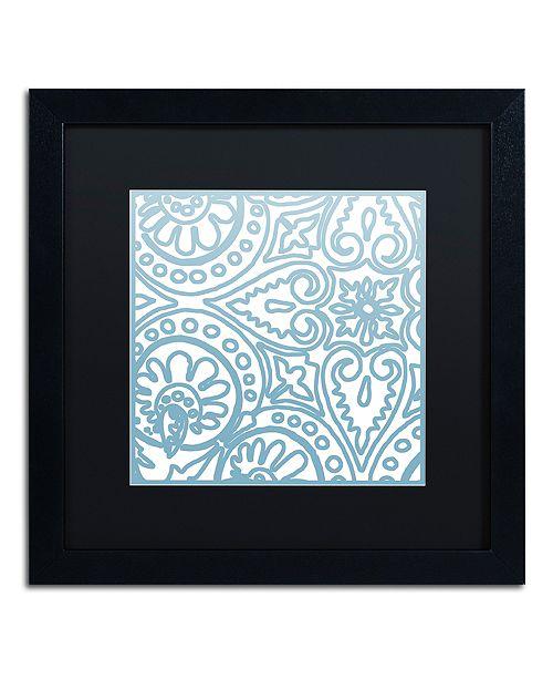 "Trademark Global Color Bakery 'Dulce I' Matted Framed Art, 16"" x 16"""