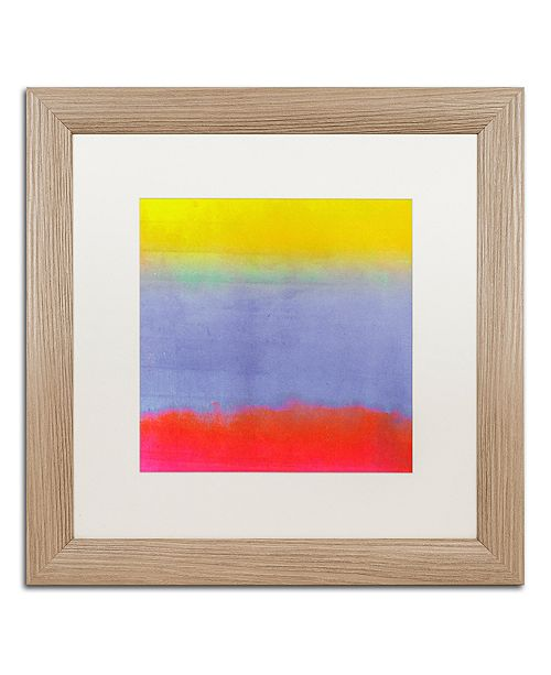 "Trademark Global Color Bakery 'Gradients Iii' Matted Framed Art, 16"" x 16"""