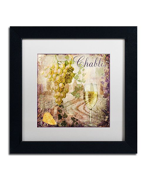 "Trademark Global Color Bakery 'Wine Country V' Matted Framed Art, 11"" x 11"""