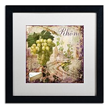 "Color Bakery 'Wine Country Vi' Matted Framed Art, 16"" x 16"""