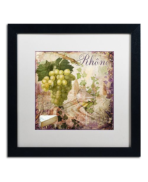 """Trademark Global Color Bakery 'Wine Country Vi' Matted Framed Art, 16"""" x 16"""""""