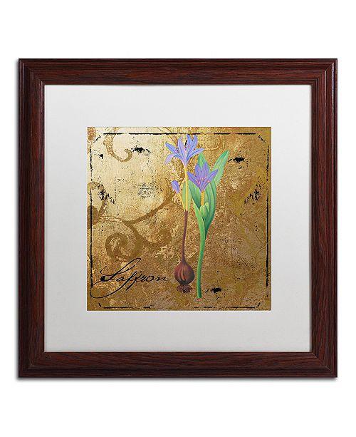 "Trademark Global Color Bakery 'Black Gold Herbs Ii' Matted Framed Art, 16"" x 16"""