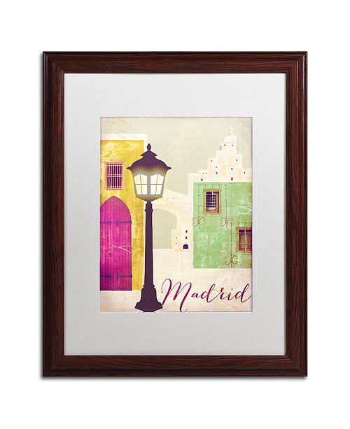 """Trademark Global Color Bakery 'Retro Cities Iv' Matted Framed Art, 16"""" x 20"""""""