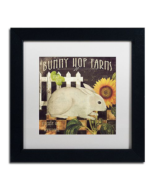 """Trademark Global Color Bakery 'Vermont Farms Iii' Matted Framed Art, 11"""" x 11"""""""