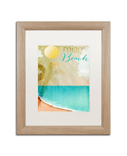 """Trademark Global Color Bakery 'Miami Beach' Matted Framed Art, 16"""" x 20"""""""