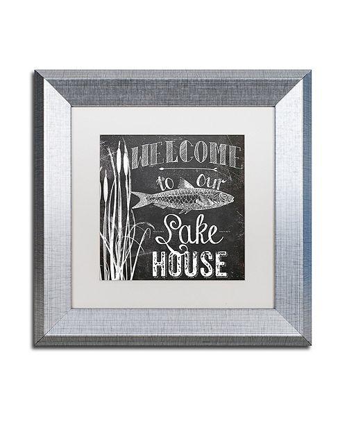 "Trademark Global Color Bakery 'Lake House I' Matted Framed Art, 11"" x 11"""