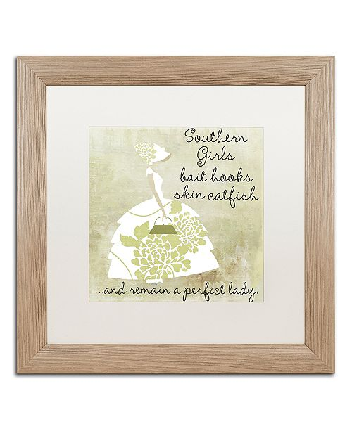 "Trademark Global Color Bakery 'Southern Belles Two' Matted Framed Art, 16"" x 16"""