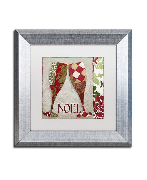 """Trademark Global Color Bakery 'Holiday Cheer Two' Matted Framed Art, 11"""" x 11"""""""