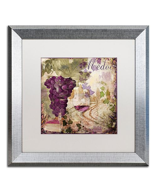 """Trademark Global Color Bakery 'Wine Country Iv' Matted Framed Art, 16"""" x 16"""""""