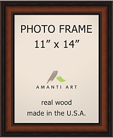 "Amanti Art Bella Noce Walnut 11"" X 14"" Opening Wall Picture Photo Frame"