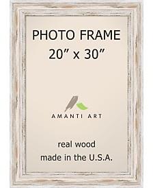 "Amanti Art Alexandria Whitewash 20"" X 30"" Opening Wall Picture Photo Frame"