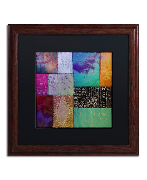 "Trademark Global Color Bakery 'Afrikan Batik I' Matted Framed Art, 16"" x 16"""
