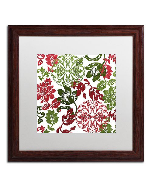 "Trademark Global Color Bakery 'Woodlands Christmas I' Matted Framed Art, 16"" x 16"""