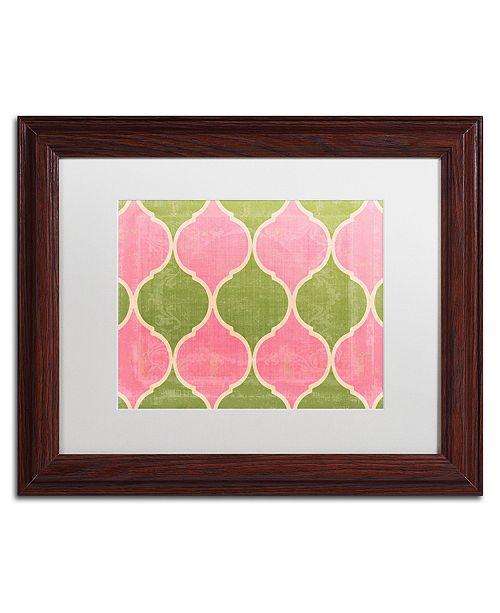 "Trademark Global Color Bakery 'Annabelle Lee Iii' Matted Framed Art, 11"" x 14"""