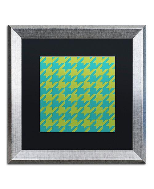 """Trademark Global Color Bakery 'Houndstooth I' Matted Framed Art, 16"""" x 16"""""""