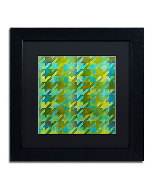 """Trademark Global Color Bakery 'Houndstooth Vii' Matted Framed Art, 11"""" x 11"""""""