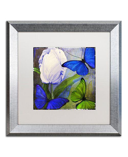 "Trademark Global Color Bakery 'Morphos One ' Matted Framed Art, 16"" x 16"""
