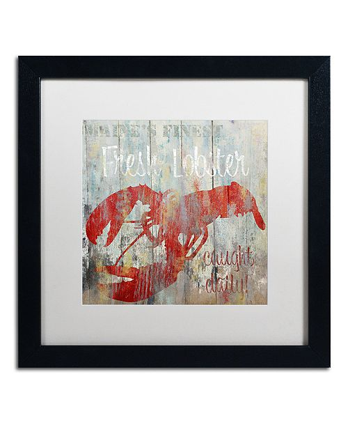 "Trademark Global Color Bakery 'Restaurant Seafood Iii' Matted Framed Art, 16"" x 16"""