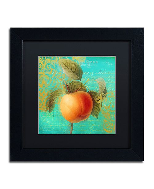 "Trademark Global Color Bakery 'Glowing Fruits Iii' Matted Framed Art, 11"" x 11"""