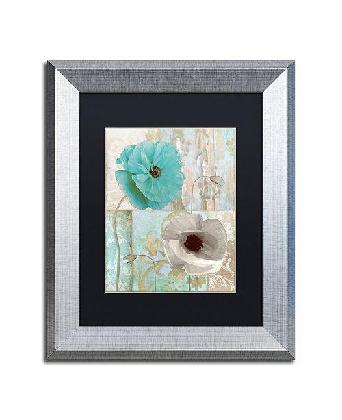 "Trademark Global Color Bakery 'Beach Poppies Ii' Matted Framed Art, 11"" x 14"""