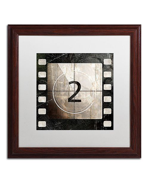 "Trademark Global Color Bakery 'Vintage Countdown Ii' Matted Framed Art, 16"" x 16"""