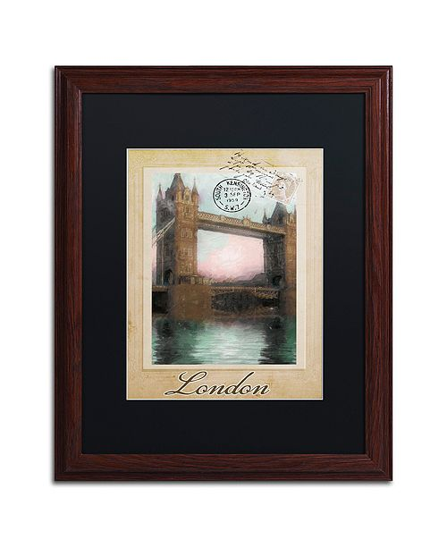 "Trademark Global Color Bakery 'European Vacation Iii' Matted Framed Art, 16"" x 20"""