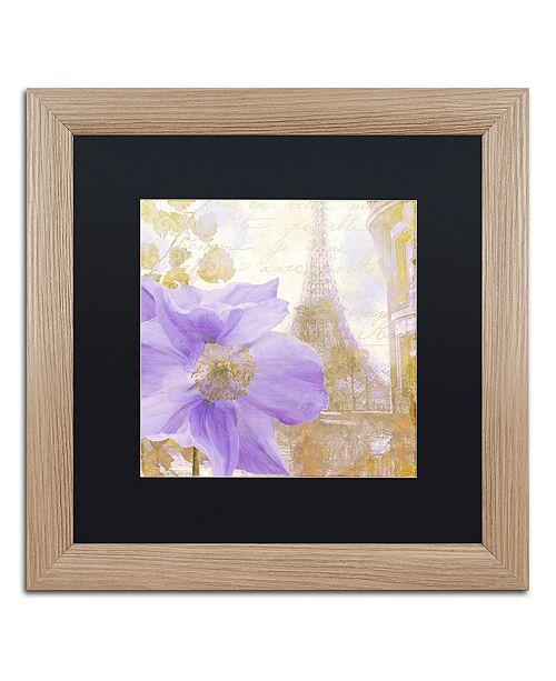 "Trademark Global Color Bakery 'Purple Paris Ii' Matted Framed Art, 16"" x 16"""