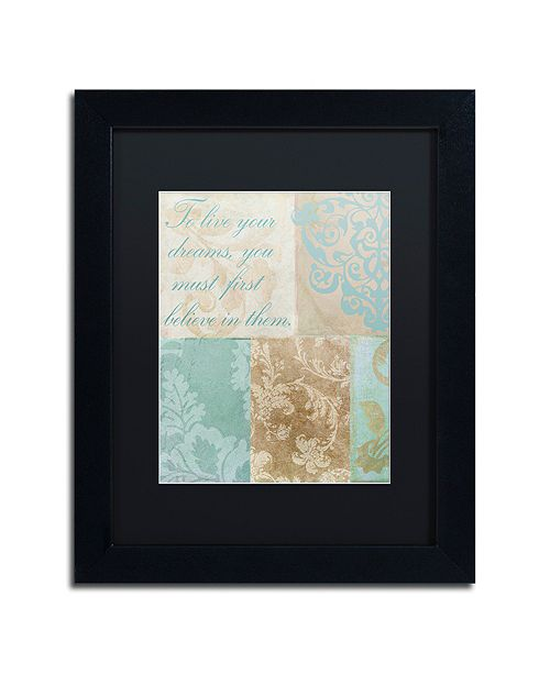 """Trademark Global Color Bakery 'Live Your Dreams' Matted Framed Art, 11"""" x 14"""""""