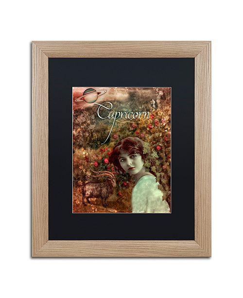 "Trademark Global Color Bakery 'Art Nouveau Zodiac Capricorn' Matted Framed Art, 16"" x 20"""